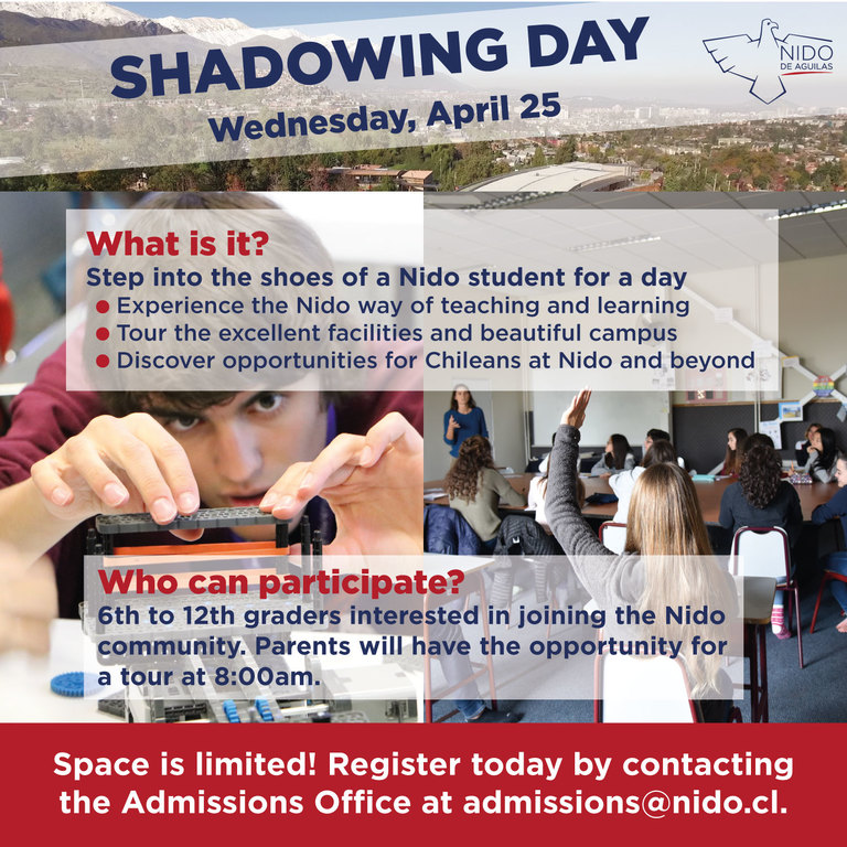 Shadowing Day at Nido | April 25