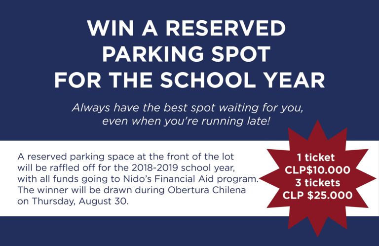 WIN A RESERVED PARKING SPOT FOR THE 2018-2019 SCHOOL YEAR