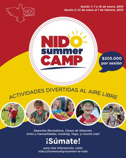 JOIN US FOR NIDO SUMMER CAMP