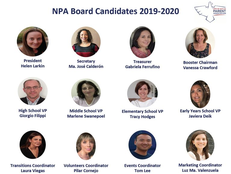 NPA BOARD FOR 2019-2020