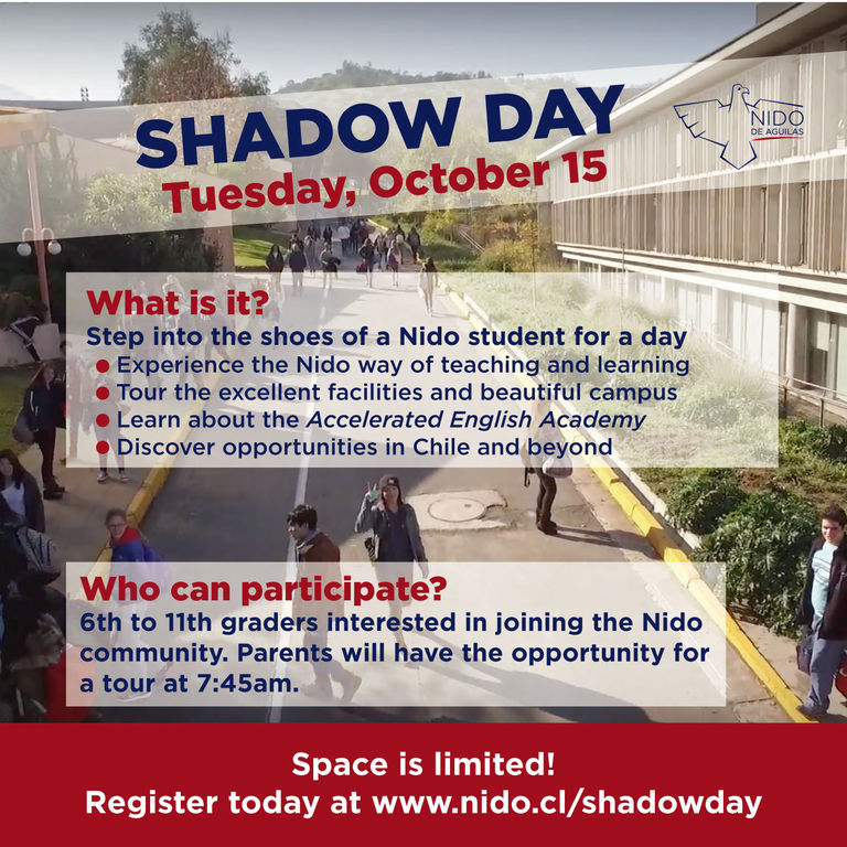 Shadow Day at Nido | October 15