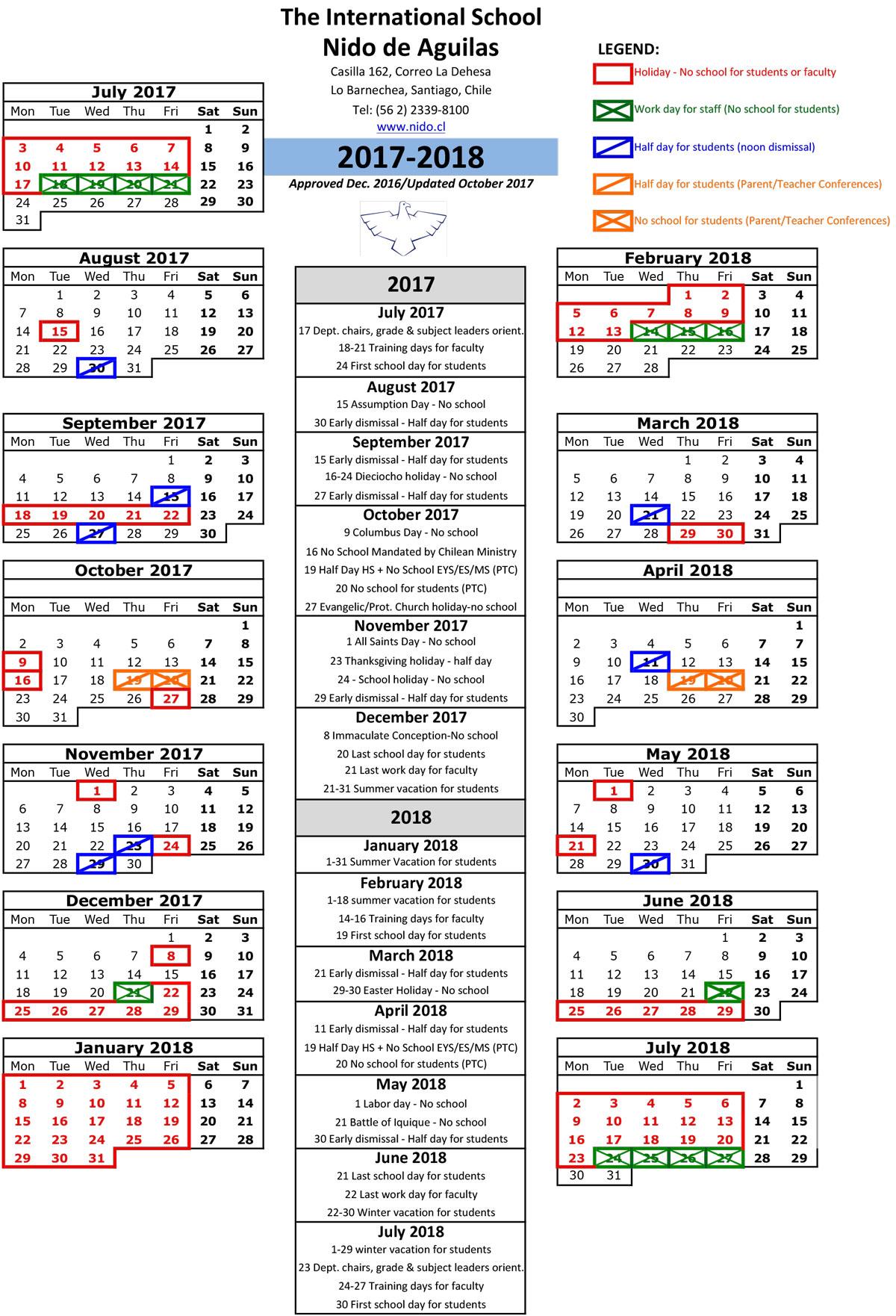 download year calendar 2017